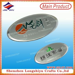 Embossed Customized Aluminium Brush Metal Label for Garment & Handbag pictures & photos