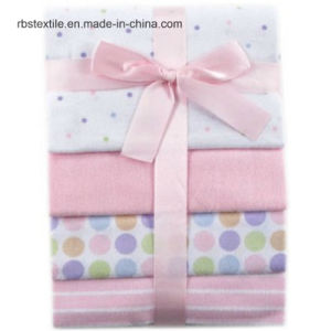 100% Cotton Fannel Baby Receiving Blanket Sleeping Cover pictures & photos