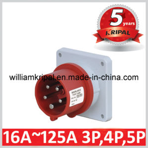 IP44 16A 3p+N+ E Industrial Panel Mounted Power Plug pictures & photos