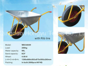 Heavy Duty Rib Tire Wheelbarrow pictures & photos