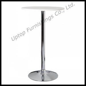 Round Chrome Steel Base High Bar Table (SP-BT620) pictures & photos