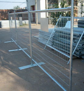 Hot-Dipped Galvanized Temporary Fence with Steel Feet pictures & photos