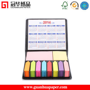 Colorful Paper Sticky Note Pad with PU Holder and Calendar pictures & photos