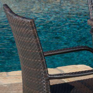 Well Furnir Outdoor Flat Rattan Weaven 5 Piece Seats Dining Set pictures & photos