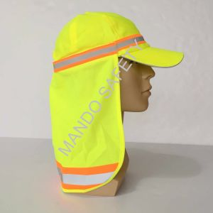 Polyester Taslon Helmet Cap with Reflective Tapes pictures & photos
