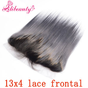 13X4 Ombre 1b/Grey Lace Frontal Straight Dark Root Gray Hair pictures & photos
