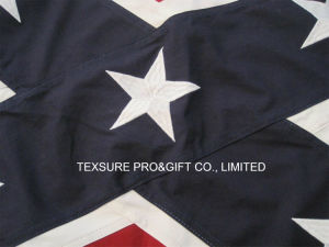 Embroidery Custom National State Cotton Flag (0013) pictures & photos
