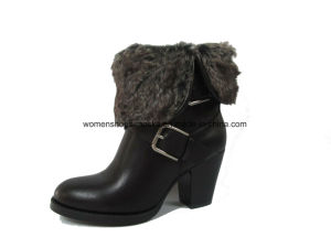 Hot Selling Lady Fashion Chunky High Heel Ankle Boots for Leisure pictures & photos