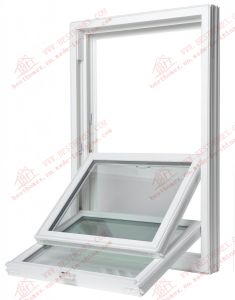Powder Coating Aluminum Double Hung Window (BHA-LW06) pictures & photos