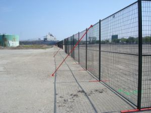 6ftx10FT Fenc for Event Ral 2009 Orange Coated Portable Security Canada Temporary Fence pictures & photos