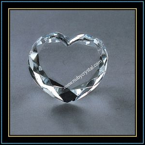 Love Style Crystal Blank Block for Valentine′s Day Gift pictures & photos