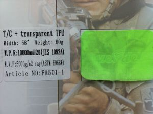 T/C+Waterproof and Breathable TPU Film (FA501-1) pictures & photos