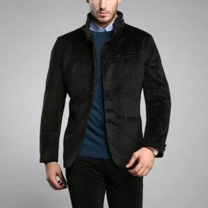 Fashion Wholesale Corduroy Brown Colors Winter Jacket Mens pictures & photos