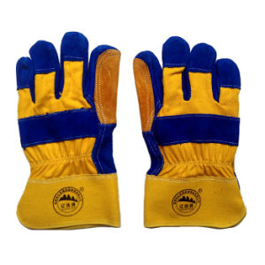 Cow Split Leather Working Work Protective Safety Hand Gloves pictures & photos