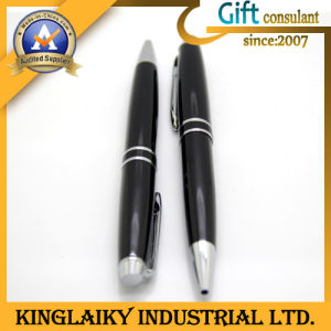 Promotional Gift Silvery&Black Pen with Logo (KP-14) pictures & photos