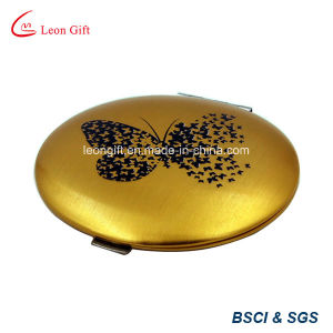 Wholesale Butterfly Aluminum Gold Compact Mirror for Sale pictures & photos