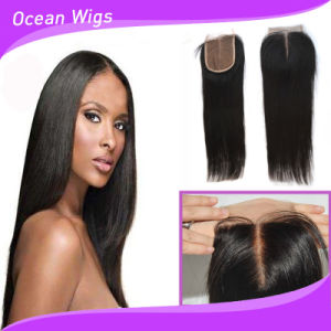 100% Human Brazilian Virgin Remy Silk Top Lace Closure pictures & photos