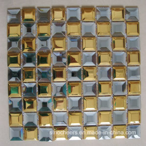Beveled Diamond Mirror Glass Mosaic Tiles pictures & photos