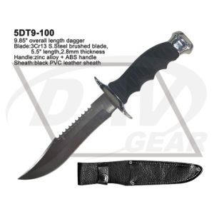 "9.85"" Overall ABS Handle Dagger with PVC Leather Sheath: 5dt9-100 pictures & photos"