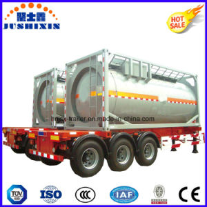 China Manufacturer 3 Axles 24cbm Fuel Semi-Trailer Tank Container pictures & photos