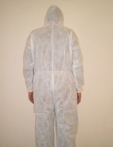Disposable PP Non-Woven Isolation Gown pictures & photos
