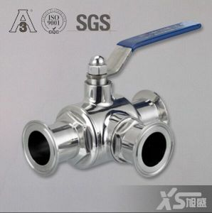 Stainless Steel Food Grade Triclover Three-Way Ball Valve pictures & photos