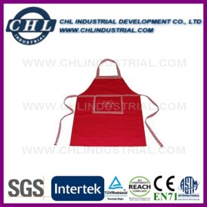 FDA Certification Promotional 100% Cotton Apron with Logo Embroidery pictures & photos