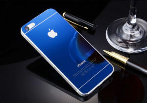 Tempered Glass Screen Protector for iPhone 5/5s/Se Electroplating Blue Color pictures & photos