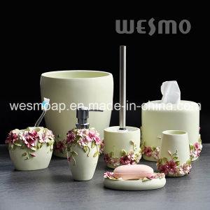 Floral Polyresin Bath Set (WBP0264A) pictures & photos