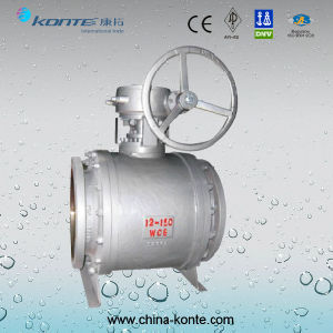 Side Entry Pipeline Trunnion Ball Valve Gear Operated pictures & photos