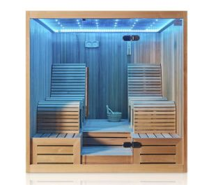 Couple Two Lying Position Romantic LED Light Health and Warm Leisure Sauna Cabin M-6050 pictures & photos