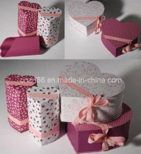 Professional Paper Gift Packaging Box with Ribbon Design pictures & photos