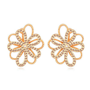 Fancy Beautiful Women′s Alloy Wholesale Zircon Earrings