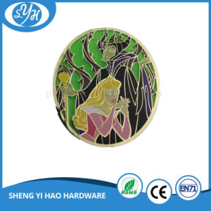 Customized Iron on Stamping Silver Plating Enamel Badge pictures & photos