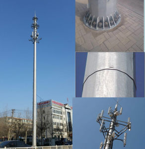 Galvanized Self Supporting Communication Pole pictures & photos