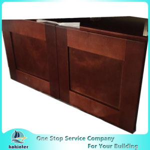 American Style Kitchen Cabinet Cherry Shaker W3612 pictures & photos