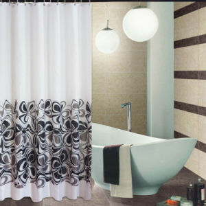 Fashion Shower Curtain 100%Poly Waterproof Shower Curtain (JY-493) pictures & photos