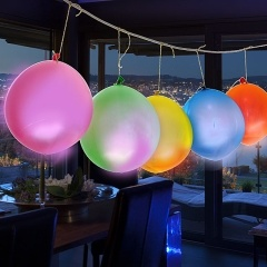 12 Inch Mixed Color Flashing LED Balloon Lights for Advertising and Decoration