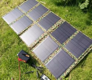 100W Big Power Mobile Device Foldable Solar Power Charger Bag Used in Army Radio pictures & photos