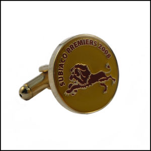 Horse Engraved Logo on Metal Cufflink (GZHY-XK-017) pictures & photos