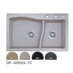 Colorful Solid Surface Undercounter Kitchen Sink (OP-GR523-TC) pictures & photos