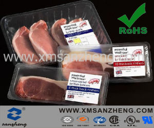 Clear Glossy Sticky Weather Resistant Colorful Meat Packaging Labels pictures & photos