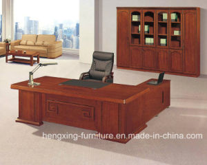 Solid Wood Veneer Executive Table Modern Manager Boss Desk Chinese Office