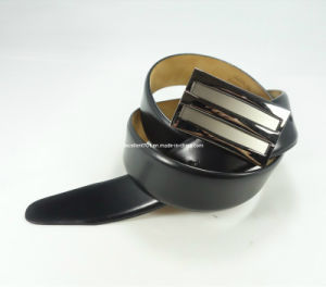 Classic Man Leather Belt with Auto Buckle (EUBL0690-35)