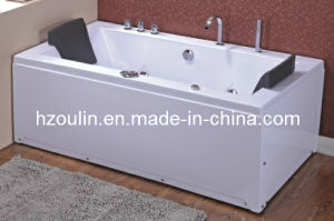 White Acrylic Sanitary Whirlpool Massage Bathtub (OL-658) pictures & photos