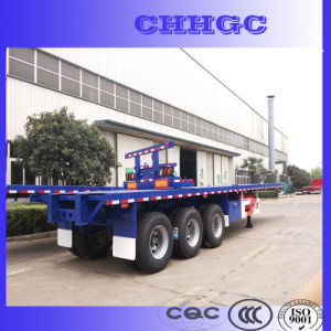 Hot Sale China Container Trailer / 3 Axle Flatbed Cargo Trailer pictures & photos