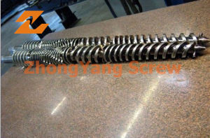 PVC Pipe Extrusion Twin Screw Barrel Conical Twin Screws pictures & photos