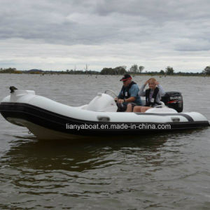 Liya 4.3m Hypalon Rib Boat Semi- Rigid Inflatable Boat China for Sale pictures & photos