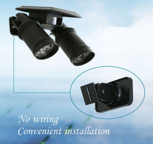 Solar Double Equipment Outdoor LED Spotlight Solar LED Induction Lamp pictures & photos