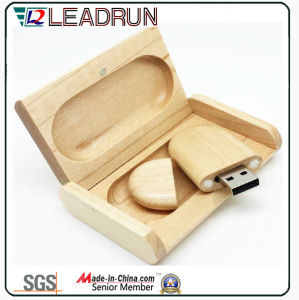 Wooden Bamboo USB Flash Stick Memory Drive Key Disk Box (YLH202) pictures & photos